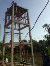 Clean water tower: Under construction