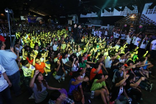 The crowd at the Power Up event
