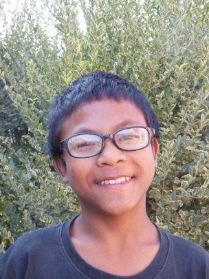 Bishal loves his new glasses!