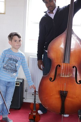 Upright Bass lessons at World Heart Beat
