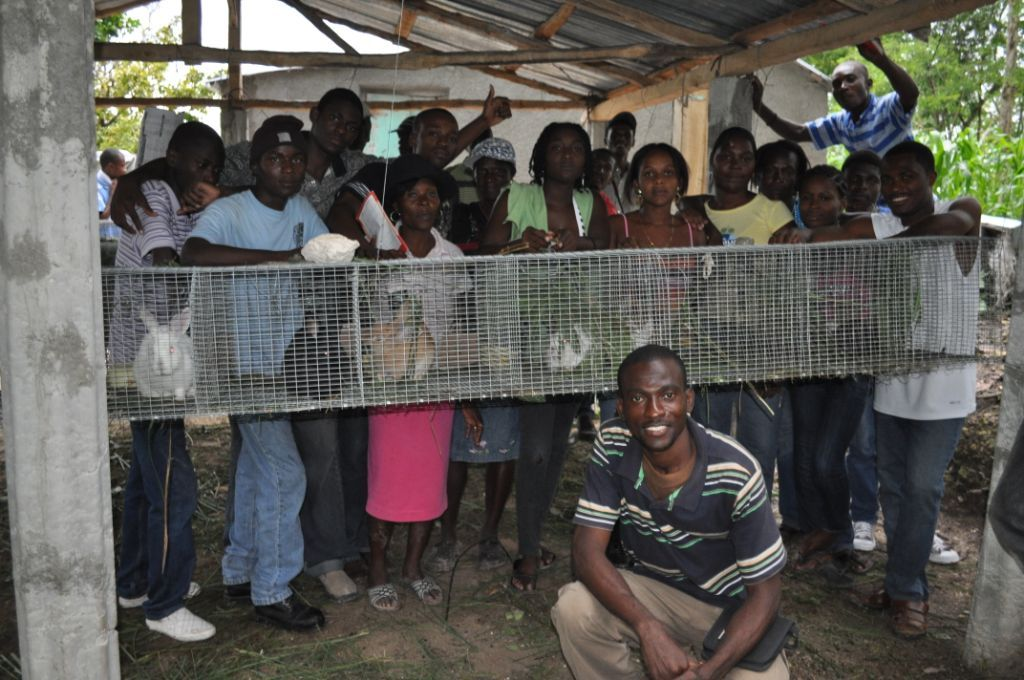 Visit to successful rabbitry in Grand Boulage