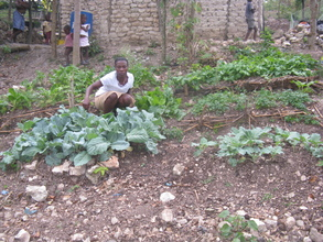 Odanie Titome has planted cabbage, carrots, radishes and more.