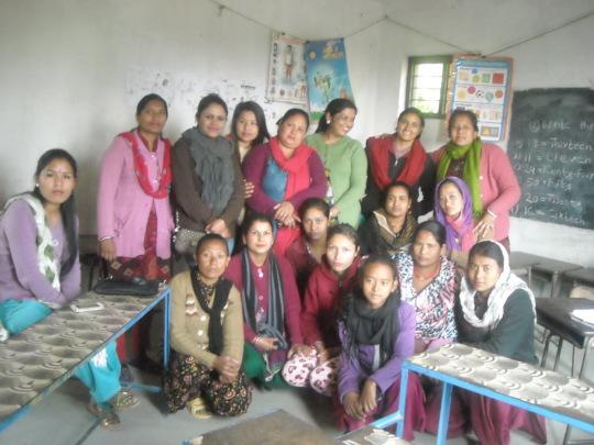 Members of Mahila Uthhan Tatha Sip Bikash Kendra