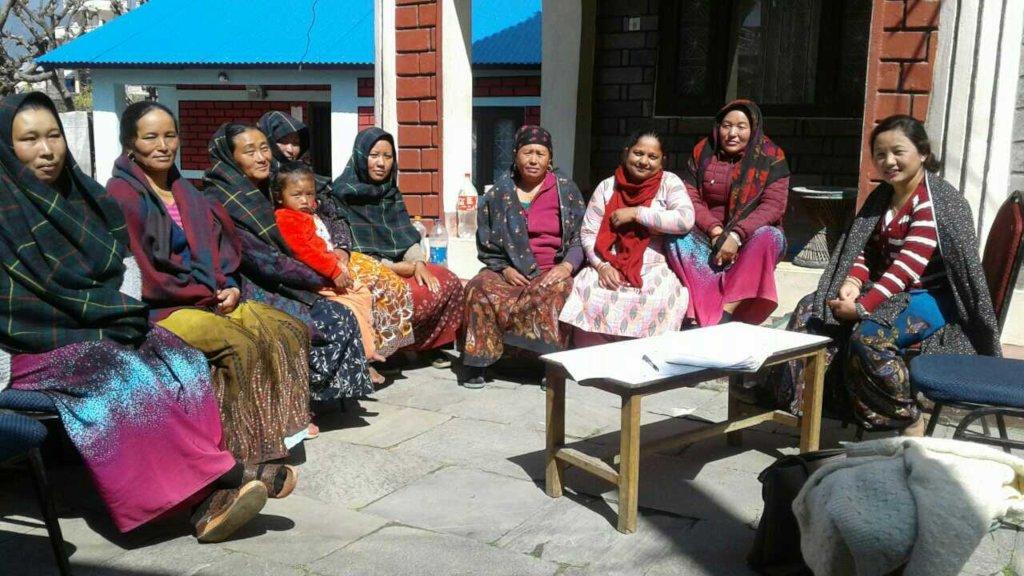 Members of Shree Barpak Mahila B. Sahakari Sanstha