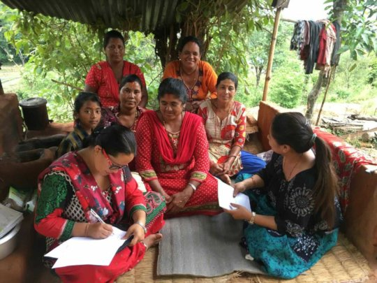 Mentees of Kavre during the previous visit.