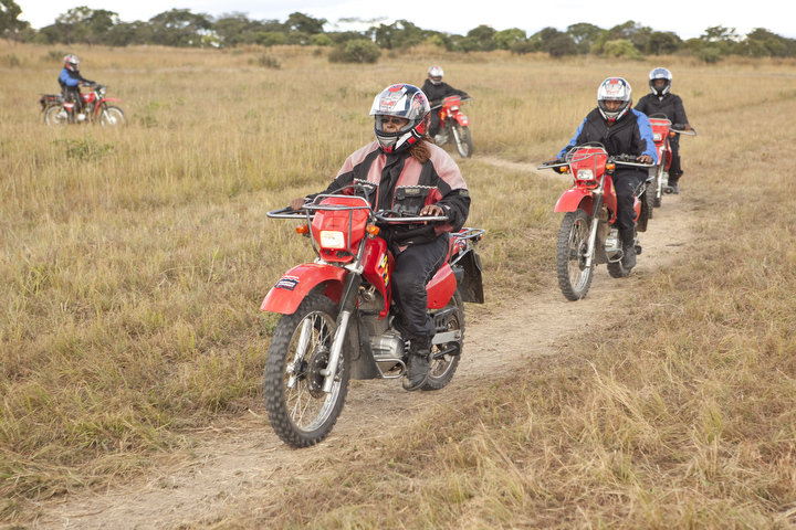Motorcycle training for health workers in Gambia