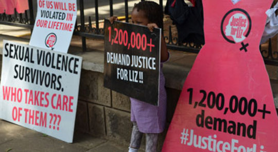 Justice for Liz rally