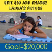 $10 could help change Laura's future