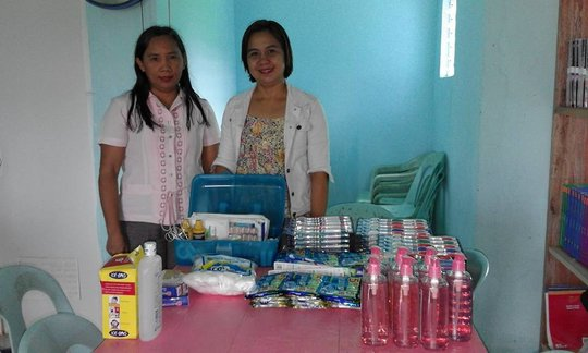 AAI Nurse Faith delivers supplies to school clinic