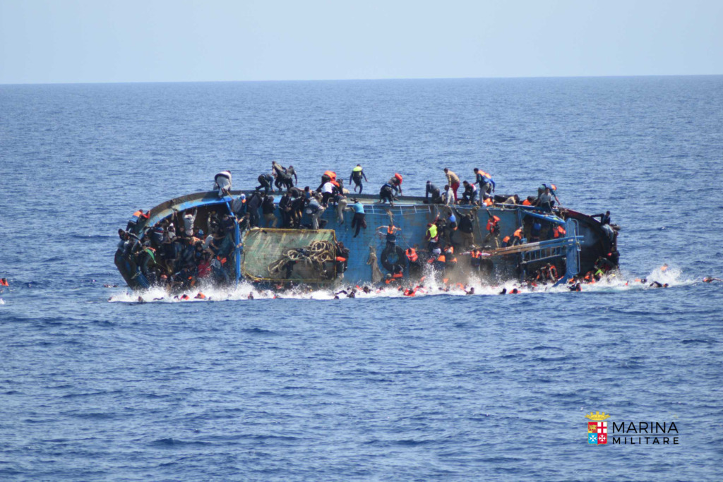 Boat capsizes in front of Patroller Bettica