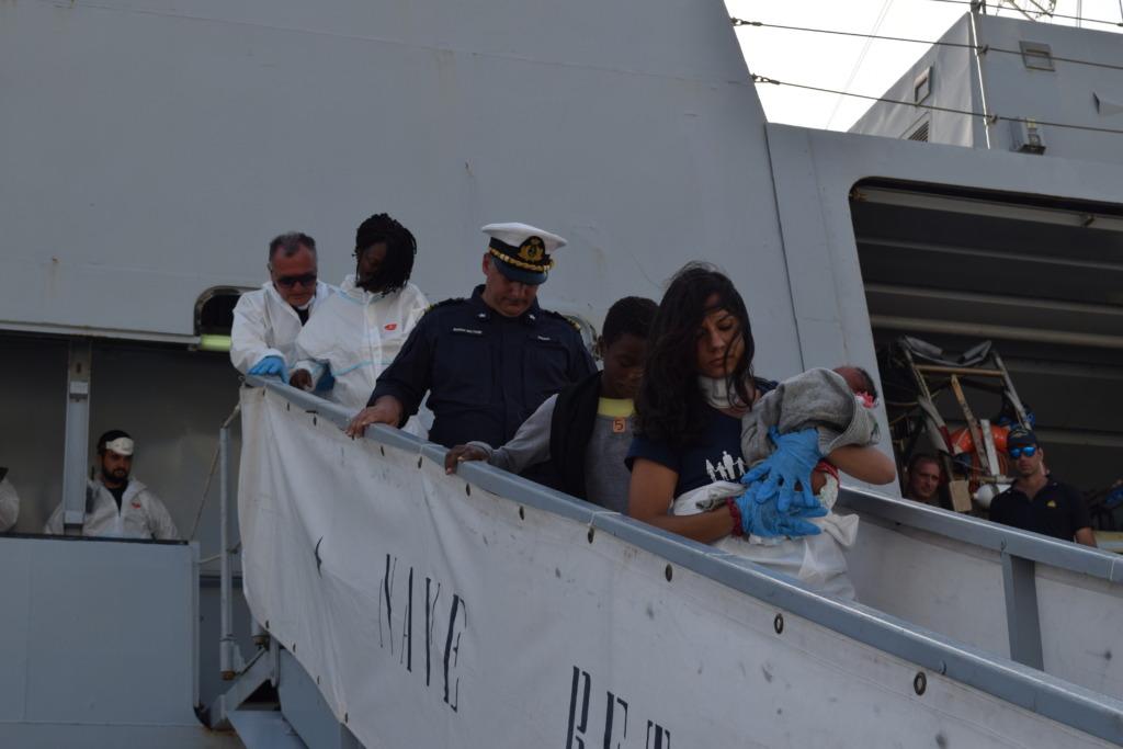 Baby Manuela safely in port
