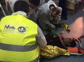 First aid on board of  flagship San Giorgio