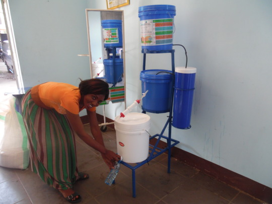 Perpetua enjoys safe clean water in Tanzania