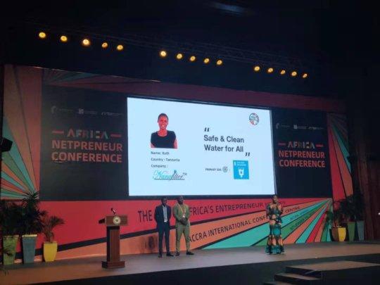 Nanofilter CEO, Ruth - Receives Award in Ghana