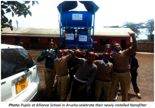 Alliance School students - Arusha -with Nanofilter