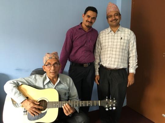 At the Koshish office Keshar sang his song again
