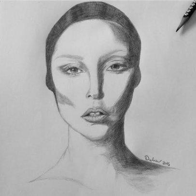 One of Dalia's recent sketches