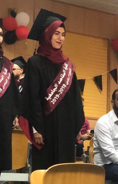 Maya during her graduation ceremony