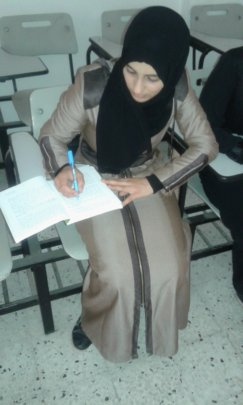 Nadia studying at Al-Azhar University