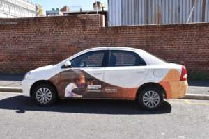 Our new branded Message car for prison travel!
