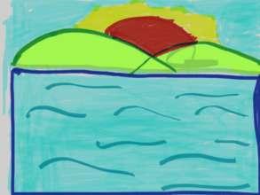 A landscape painting by Fai