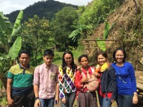 CJF staff and trainees Yekyek (3rd), Ren (right)