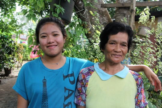 My grandmother inspires me to do my best. -Roselyn
