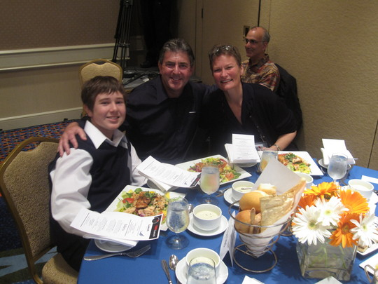 Taylor, Jim, and Pat Christen (President of HopeLab)