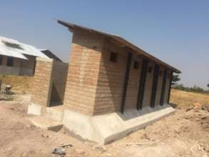 Newly completed composting latrines