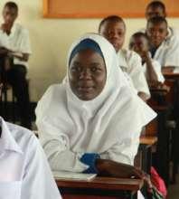 Fadhila, a Form 3 student at Milembe School.