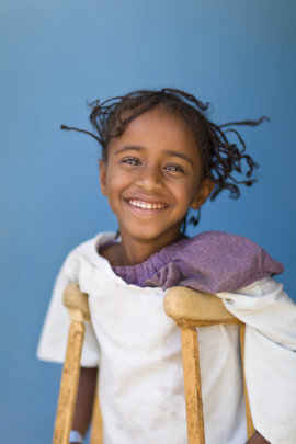 A young girl in Addis Ababa (not Yakin)