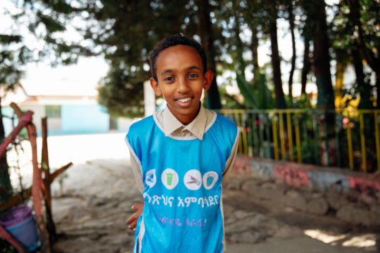 Addis Student and Hygiene Club Member