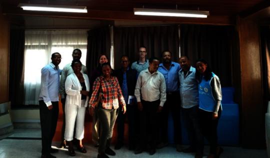 The Splash Ethiopia team with MWA representatives