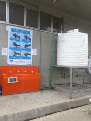 Splash handwashing station at an Addis hospital