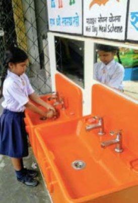 Handwashing with soap