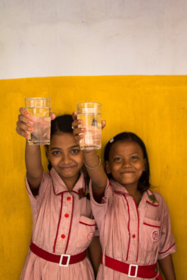 Cheers to you & kids with clean water everywhere!