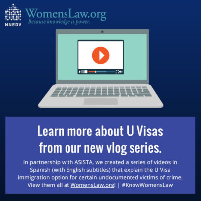 New vlogs at WomensLaw.org