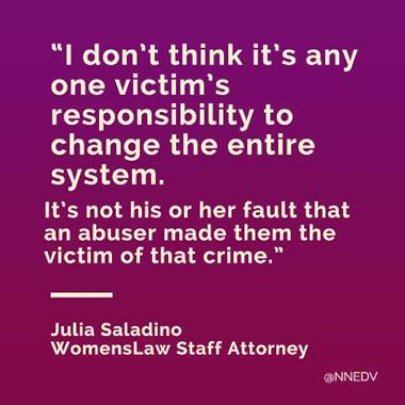 It's not the victim's responsibility...