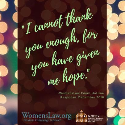 WomensLaw Gives Survivors Hope