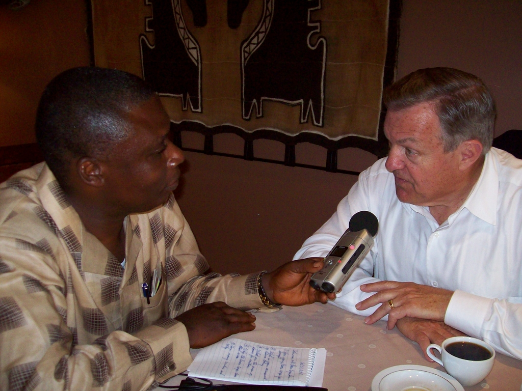 Peace Corps Director Ronald Tschetter being interviewed by Star