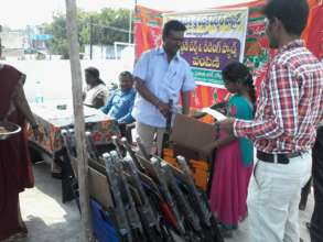 Study chairs and exam pads distributed to children
