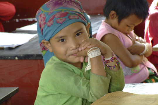 A young beneficiary in Myanmar