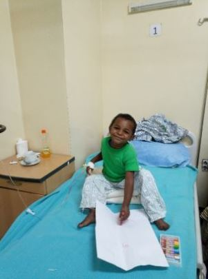 Ezana coloring in the recovery ward after surgery
