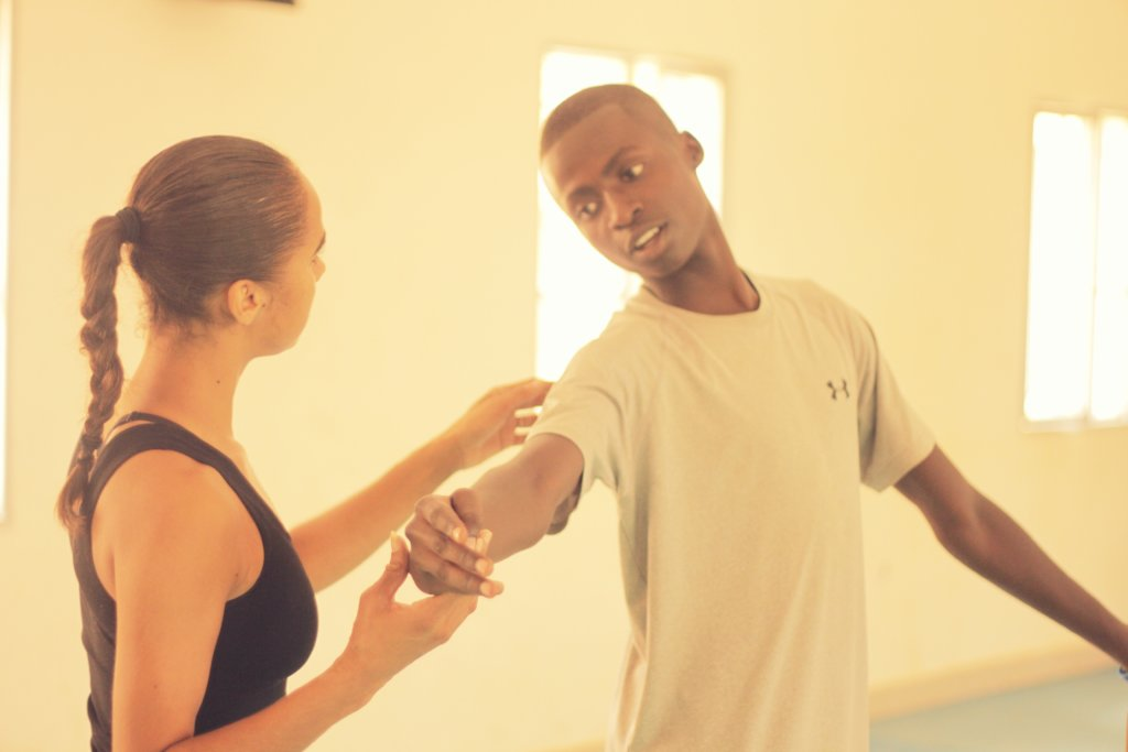MindLeaps student turned trainer, Abouba