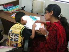 A child receiving Remedial Therapy