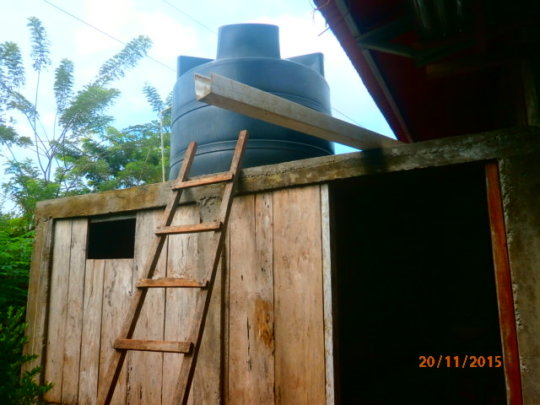 New addition and water tank installation