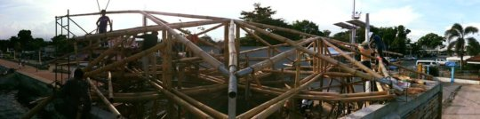 Visitor Information Center Bamboo Truss Structure