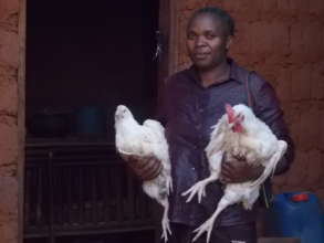 A woman generating income for her monthly  rifill