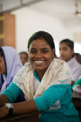 Happy is in school and safe from child marriage!
