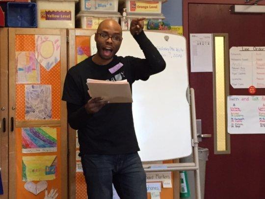 Writer/Performer, Darian Dauchan teaching at AFA